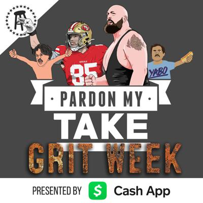 Cover art for George Kittle, The Big Show, Grit Week 2020 Livestream & Spongebob Table Read
